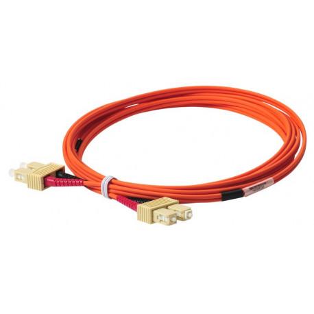 FIBER PATCH DUPLEX SC-SC MM 5M OM1 62,5/125 LSZH