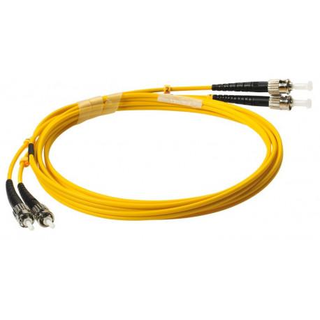 FIBER PATCH DUPLEX ST-ST SM 2M OS2 9/125 LSZH