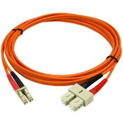 FIBER PATCH DUPLEX LC-SC MM 10M OM1 62,5/125 LSZH