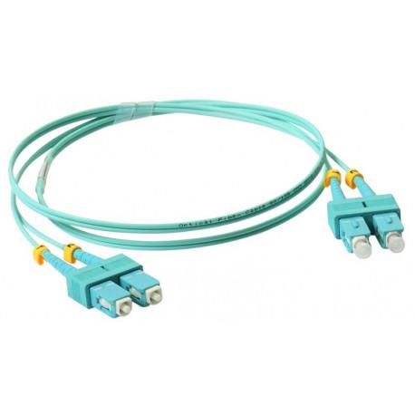 FIBER PATCH DUPLEX SC-SC MM 1M OM3 50/125 LSZH