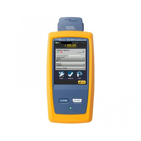 DSX-600 CableAnalyzer with Permanent Link Adapter Copper-only model.