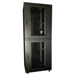 """19"""" RACK 42HE H2080XB800XD800MM PPD, 2 SEKTIONER VERTICAL MANAGEMENT & VENTILAT"""