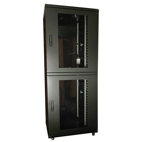"19"" RACK 42HE H2080XB800XD800MM PPD, 2 SEKTIONER VERTICAL MANAGEMENT & VENTILAT"