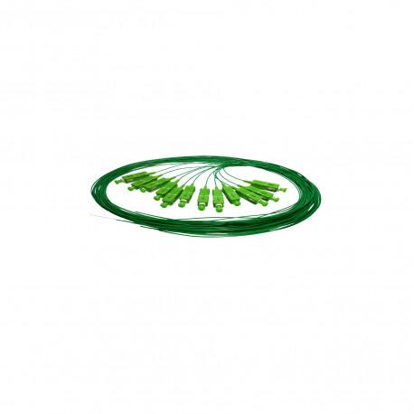 PIGTAIL SC/APC SM GRADE B 1,50 M (GREEN) OS2 G657A EASY STRIP BULK A 12 STK