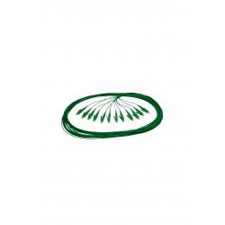 PIGTAIL LC/APC SM GRADE B 1,50 M (GREEN) OS2 G657A1 EASY STRIP BULK A 12 STK