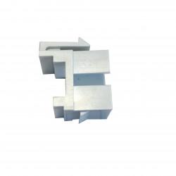 KEYSTONE RAMME FOR LC DUPLEX ADAPTER HVID SC SIMPLEX FOOTPRINT