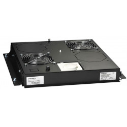 FAN TRAY FOR B800XD800MM GULVRACK SORT LRG-1500. 2 VENTILATORER, MED TERMOSTAT