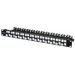 24 PORT PANEL GIGA-LAN FOR KEYSTONE JACK C6A UTP
